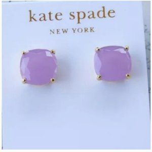 kate spade lavender purple stud earrings nwt